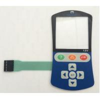 Buy cheap Embossed Gold Plated Metal Dome Membrane Switch With Transparent Windows from wholesalers