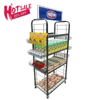 Buy cheap Chocolate Store Height 1.8m Wire Basket Display Stand from wholesalers