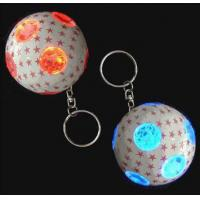 China Promotional gifts Personalized mini LED Metal / Plastic Ball Custom Promotional Keychains on sale