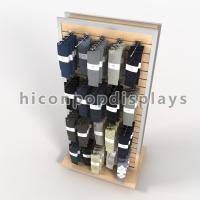 Buy cheap Freestanding Slatwall Display Stands Double Sides For Smartwool Socks from wholesalers