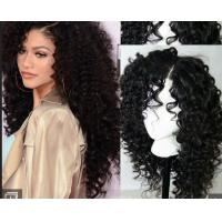Buy cheap Brazilian Curly Swiss Human Hair Full Lace Wigs For Black WomenWith Baby Hair from wholesalers
