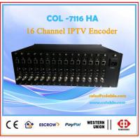 Buy cheap Hot sale wholesale price 2*16CHannel HDMI&AV dual iptv encoder from wholesalers