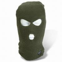 Buy cheap Head Mask/Military 3 Hole Balaclava, Available in Green and Black from wholesalers