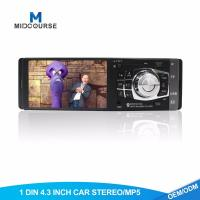 China 4.3 Inch Screen1 Din Car Stereo With SD USB MP3 MP5 FM Reversing Camera on sale