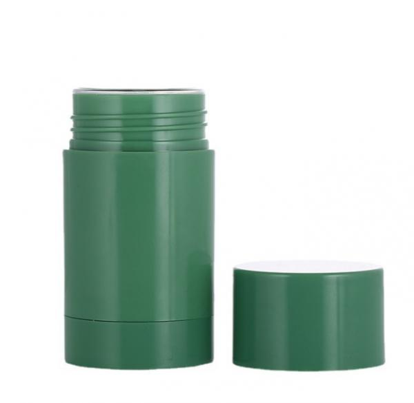 Quality 1oz 1.7oz Twist Up Refillable Deodorant Containers Green Color for sale