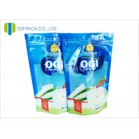 Buy cheap Blue Clear Front 500g Stand Up Food Pouches , Powder Plastic Bag Packaging Food Grade product