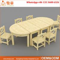 Buy cheap Solid pine wood nursery play school table and chairs for 1.5-4 years old kids from wholesalers