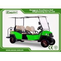Buy cheap Green Powerful Electric Golf Carts For 6 Person Steel Framework from wholesalers