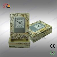 Buy cheap PU desktop alarm clock with storage box made in china from wholesalers