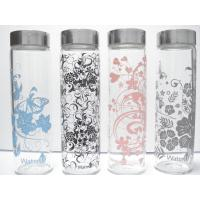 Buy cheap Colorful Single-wall Glass Water Bottles, 500ml high borosilicate water glass bottle from wholesalers