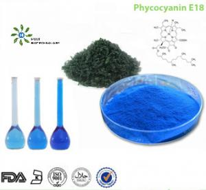 Buy cheap FDA Certified Food Coloring Pigment E18 Blue Spirulina Powder product