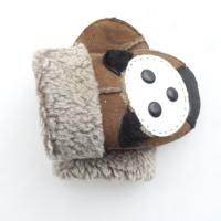 Buy cheap Children Winter Leather Mitten Gloves Classic Plain Style Eco - Friendly from wholesalers