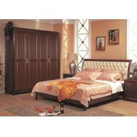 Buy cheap PVC Finish European Style Hinged Wardrobes , Solid Wood Bedroom Clothing Wardrobe Furniture from wholesalers