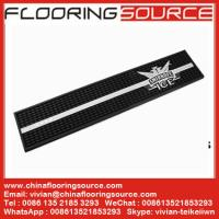 Buy cheap Rubber PVC Personalised Beer Bar Mat PVC Spills Runner Mat prevent spills protect bar surface from wholesalers