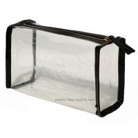 Transparent clear PVC cosmetic make-up bag / pouch with perfect imbossed logo