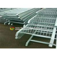 Buy cheap Offices / Schools Serrated Steel Grating 65mm Bearing Bar Pitch Silver Color product