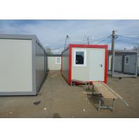 Buy cheap Prefab Flat Pack Living And Office Spaces For Mobile Workers For Construction Sites from wholesalers