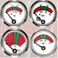 Buy cheap JQ0803 Fire Extinguisher Gauge 23mm Diameter Sturdy / Durable With Bottom Mounting product