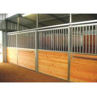 Hot Dip Galvanized Horse Stalls , Metal Horse Stalls With