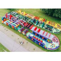 Buy cheap Outdoor Boot Camp Inflatable Obstacle Challenges / Giant Inflatable Obstacle Course from wholesalers
