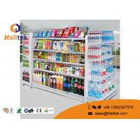 Adjustable Color Supermarket Gondola Shelving Strong Construction Capacity