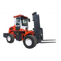 Buy cheap 5500kg 4WD off road diesel pallet fork truck with CE made in China from wholesalers