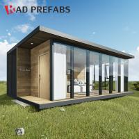 China RAD Luxury Floating Wood Cladding Folding Container Prefabricated Homes on sale