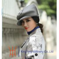 Buy cheap Custom Comfortable Grey / Black Church Hats for Party / horse racing from wholesalers