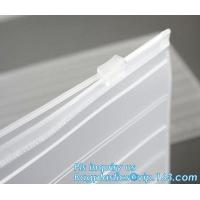 Buy cheap slider zipper PVC plastic bag for packing bed sheet, Flat Zipper Top PVC Slider Zipper Bags For Towel Washing Goods Pack from wholesalers