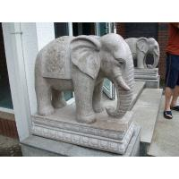 Buy cheap Indian White Granite Elephant Stone Carving from wholesalers