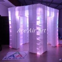 Buy cheap 2.4 m x 2.4 m x 2.4 m ace air art inflatable wedding photo booth /inflatable led photobooth for weddings with best light from wholesalers
