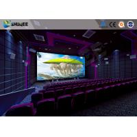 Buy cheap Flat / Arc Screen Movie Theater Seats Sound Vibration Cinema Theater With Special Effect product