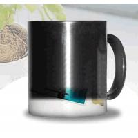 Buy cheap Certification SGS/CE custom LOGO for the change colors mug WITH HANDLE printting photos ceramic cup magic mug from wholesalers