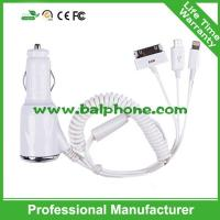 Buy cheap car charger with cable for iphone6/5/iphone4/HTC/Sumsung from wholesalers
