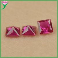 Buy cheap Hot Sale #5 loose square shape faceted rough artificial ruby corundum price from wholesalers