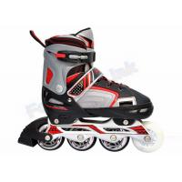 Buy cheap Smooth Riding PU Wheels Kids Adjustable Roller Skates / LED Light Flashing Roller Skate from wholesalers