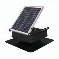 Buy cheap Square Type Solar Powered Roof Fan , Solar Energy Roof Mounted Attic Exhaust Fans from wholesalers