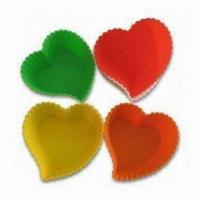 Buy cheap Heart-shaped Cake Pans, Made of 100% Food Grade Silicone, European Standard, OEM Orders Accepted product