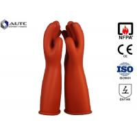 Buy cheap Rubber Insulating Electrical Safety Gloves Voltage Rating AC 7500 V Class 1 product