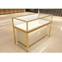 Buy cheap Luxurious golden jewelry display showcase fashion jewelry shop decoration design with display cabinet from wholesalers