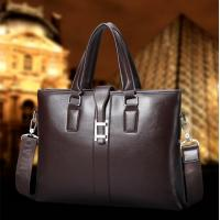 Buy cheap 2017 Men Casual Briefcase Business Shoulder Bag Leather Messenger Bags Computer Laptop Handbag Bag Men's Travel Bags from wholesalers
