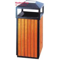 Buy cheap Garden Park  Outdoor Wooden Trash Recycle Bin For Home  Kitchen  38 * 85cm from wholesalers