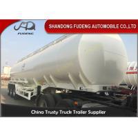 3 Axles 50CBM Fuel Tanker Semi Trailers Customized carbon steel tanker trailers