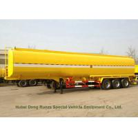 Buy cheap Carbon Steel 3 Axles Tank Semi Trailer For Diesel , Oil , Gasoline , Kerosene Transport from wholesalers