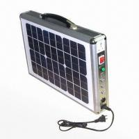 Buy cheap Portable solar power system with Embedded LED light, 110/220V AC and 12V DC output  from wholesalers