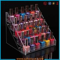 Buy cheap Clear Acrylic Nail Polish Display Stand, 5 tier nail polish display rack product