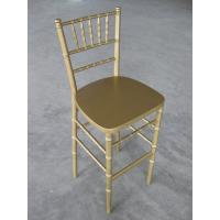 Buy cheap Modern Gold Wooden Bar Stool Armless , Stackable Wooden Indoor Chair For Home from wholesalers
