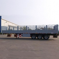 Buy cheap 600mm High Sidewall Side Railed Tri-Axle Fence Semi Trailer from wholesalers