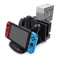 Buy cheap Newly Multi-functional Charging Dock for NS Console Joy-cons and Pro Controller with 4 Game Card and Straps Storage from wholesalers
