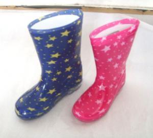 China Children star half rain boots,children star rain boots,girl garden ankel roots on sale